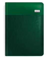 Kalendarze książkowe zielone z blaszką