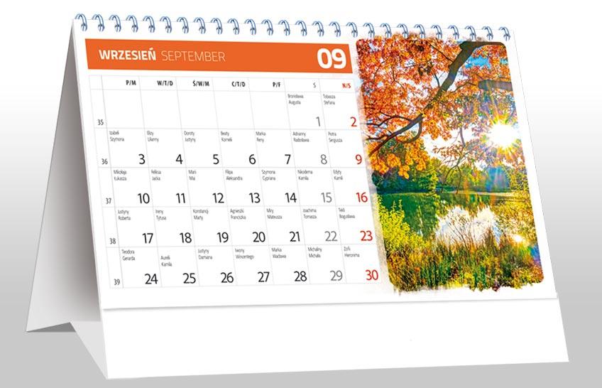 kalendarze na biurko 2020 - miesięczne