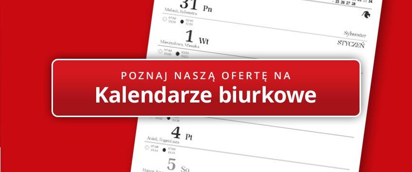 Kalendarze na biurko - oferta 2020