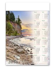 kalendarze plakatowe A1 Bałtycki klif