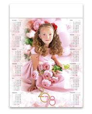 kalendarze plakatowe A1 Dziewczynka