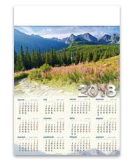 kalendarze plakatowe A1 Hala Gąsienicowa
