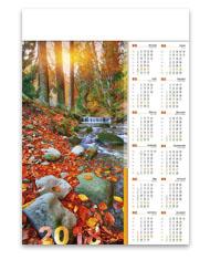 kalendarze plakatowe A1 Leśny potok