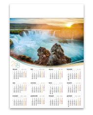 kalendarze plakatowe A1 Wodospad