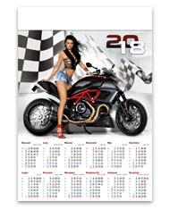 kalendarze plakatowe B1 - Dziewczyna z motorem