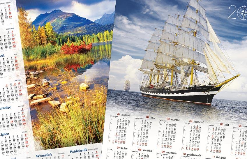 Kalendarze plakatowe listwowane indywidualne 2020