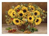 kalendarze trójdzielne Bukiet kwiatów