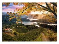 kalendarze trójdzielne Jesienny zachód