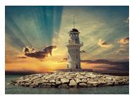 kalendarze trójdzielne Latarnia morska