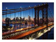 kalendarze trójdzielne Most nocą