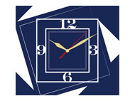 kalendarze trójdzielne VIP z zegarem - granatowy
