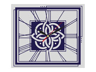 kalendarze trójdzielne Vip z zegarem - srebrny