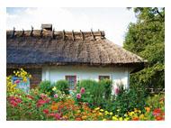 kalendarze trójdzielne Wiejska chata