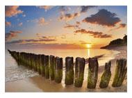 kalendarze trójdzielne duże - Bałtycka plaża