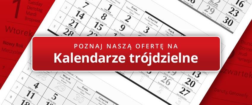 Kalendarze trójdzielne oferta StudioKalendarzy.pl
