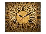 kalendarze trójdzielne z zegarem Antyczny