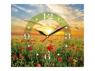 kalendarze trójdzielne z zegarem Makowa łąka