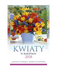 kalendarze wieloplanszowe Kwiaty w bukietach