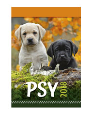 kalendarze wieloplanszowe Psy