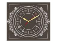 kalendrze trójdzielne VIP z zegarem - brązowy